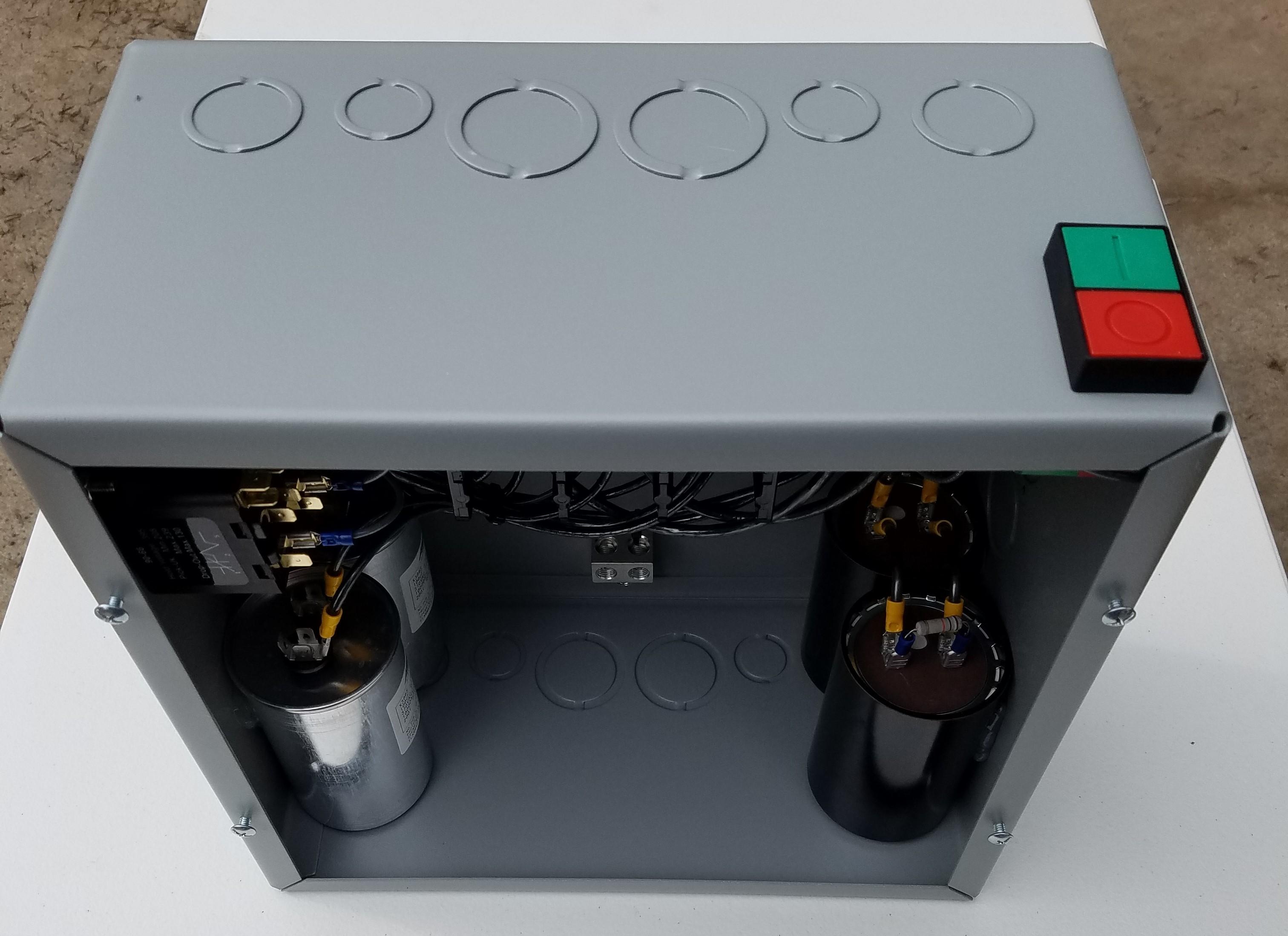 75hp Cnc Balanced 3 Phase Rotary Converter Panel